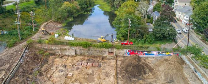 Aerial photo of the dam removal