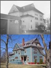 District Four Schoolhouse, Before and After, Warwick, RI  1996